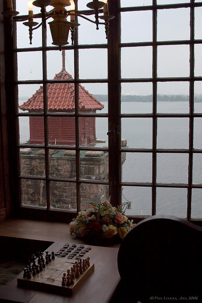Clock tower from inside the castle