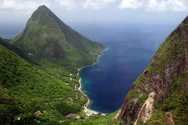 Jalousie Plantation, Pitons Bay, Saint Lucia, Windward Islands, Caribbean Sea
