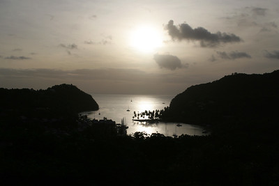 Marigot Bay, Saint Lucia, Windward Islands, Caribbean Sea