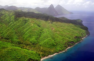 Anse Chastanet, Saint Lucia, Windward Islands, Caribbean Sea