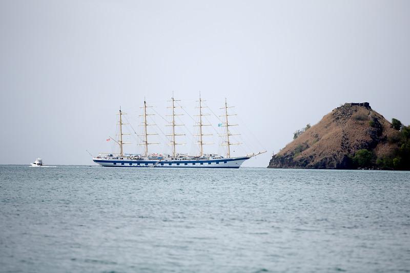 Tall Ship Royal Clipper, Rodney Bay, St. Lucia