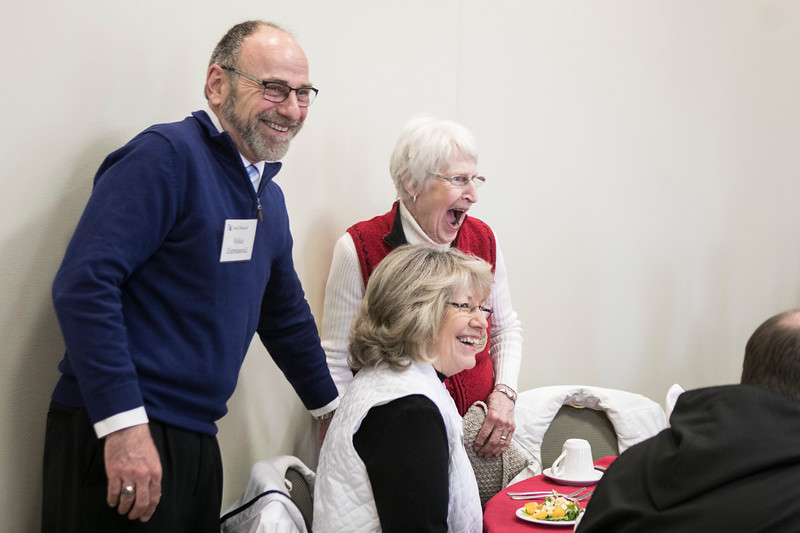 On Wednesday, April 4, 2018 the Development Office held a luncheon to thank and honor the volunteers who help with development mailings through the year. Speakers included Duane Schaefer, Fr. Denis Robinson and Archabbot Kurt Stasiak.
