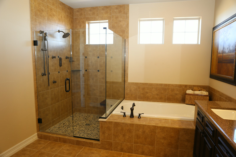 P & C model bathroom - optional large shower was taken