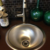 Bar sink in model home.