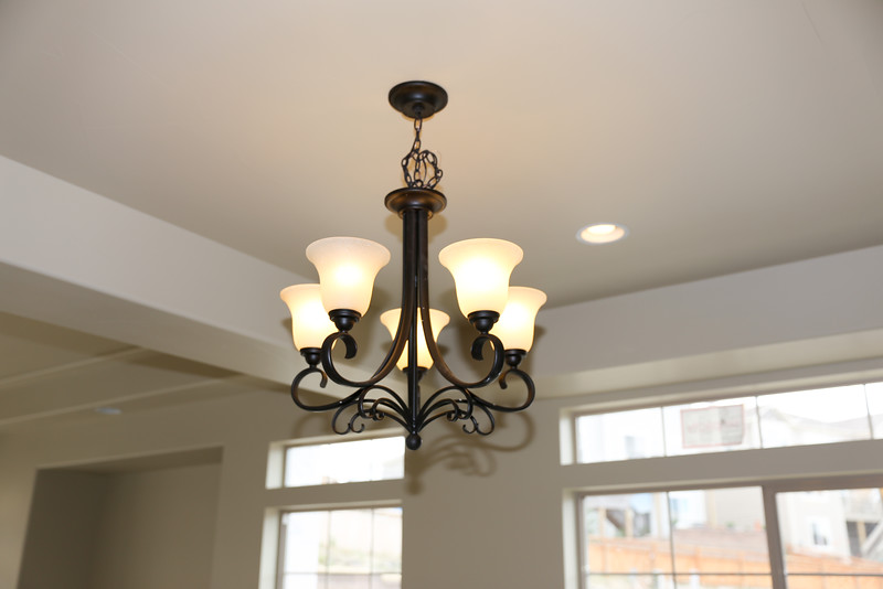 Light fixture over dinning room table