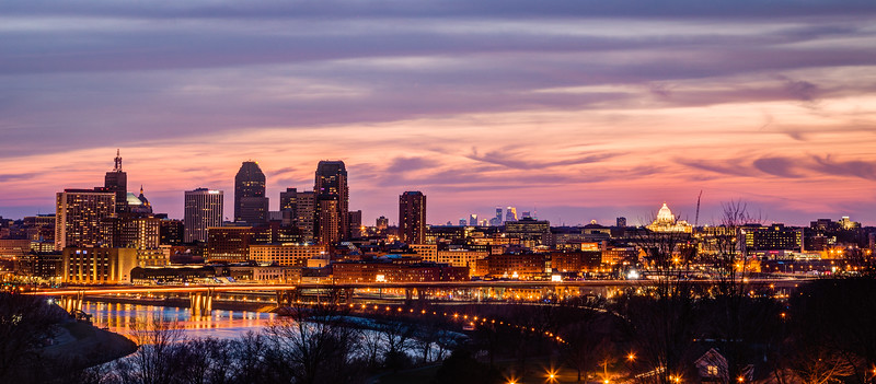 Two Cities One Sunset