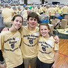 United Way of North Central Massachusetts and St. Bernard's Central Catholic High School held their Saints Against Hunger event, Nov. 20, 2019. The students packaged over 35,000 meals which helped the United Way reach 1,000,000 meals packaged. Students Tori Loiselle and her bother Ryan Loiselle along with their cousin Katie Boissoneau where the ones that helped fundraise for the event. SENTINEL & ENTERPRISE/JOHN LOVE