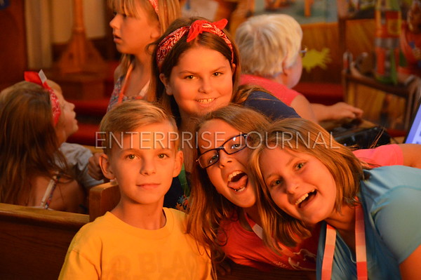 VBS Students mug for the camera at Immanuel Lutheran Church in St. Ansgar. (EJ Photo/Alex Schmidt)