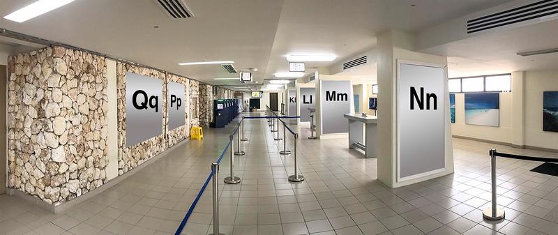 Terminal 2 : Qq, Pp, Nn, Mm, Ll