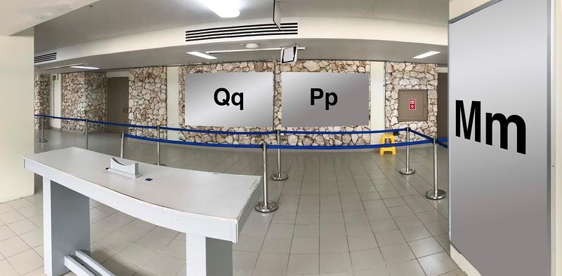 Terminal 2 : Qq, Pp, Mm