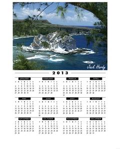 BI framed calendar