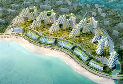 Golden Dream Bay_Aerial view_image courtesy of Safdie Architects