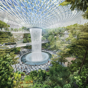 Jewel at Changi_Forest Valley Garden_courtesy Safdie Architects