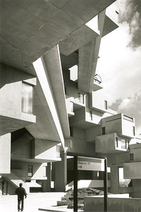 Habitat 67_Pedestrian view from ground_image by Jerry Spearman