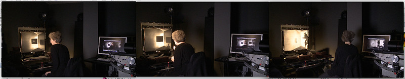 8- Michèle Lemieux dans l'atelier de l'écran d'épingles à l'ONF