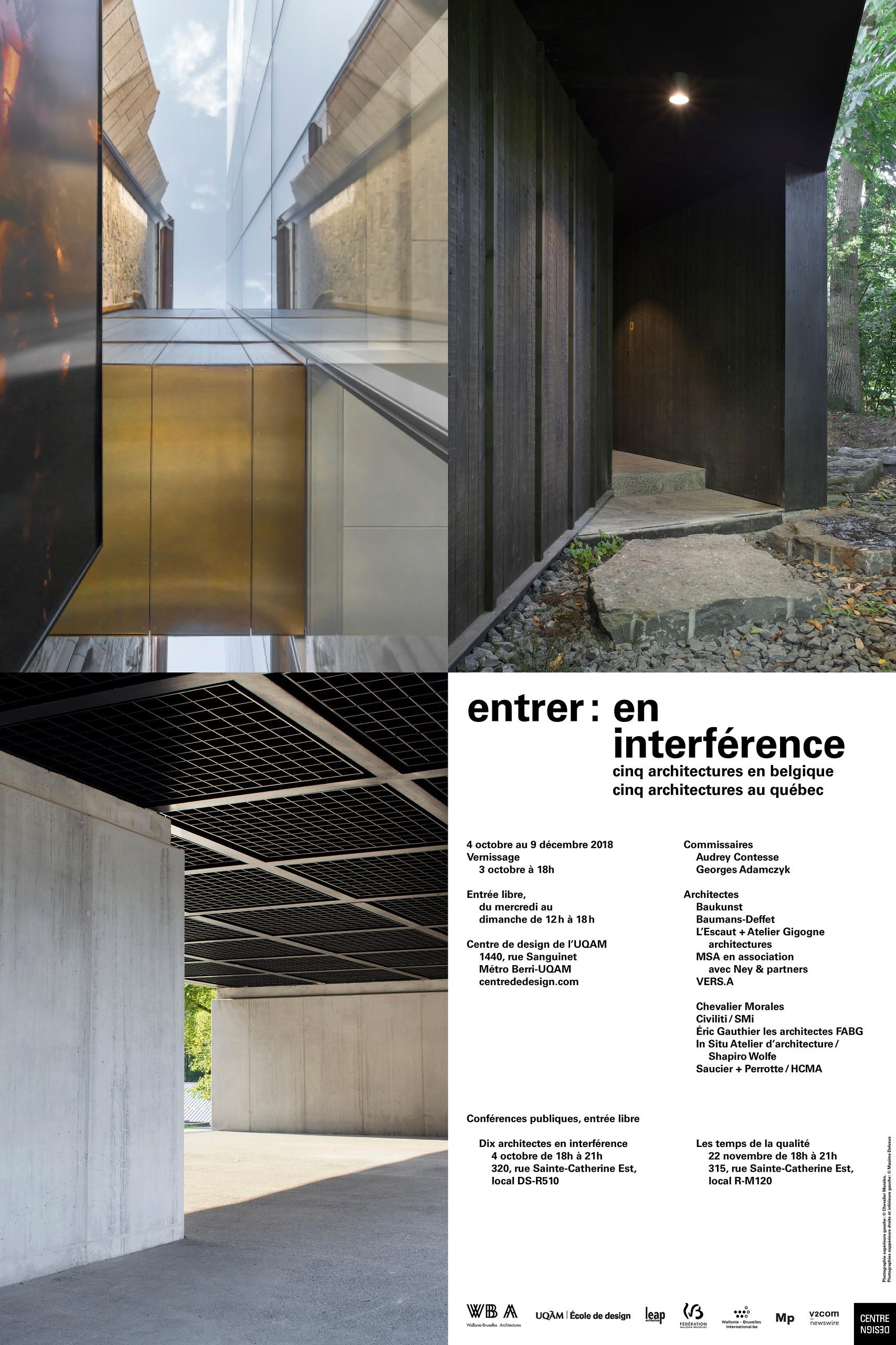 ENTRER: EN INTERFÉRENCE - EXPO - CENTRE DE DESIGN DE l'UQAM - 2018 - Graphisme © Jolin Masson
