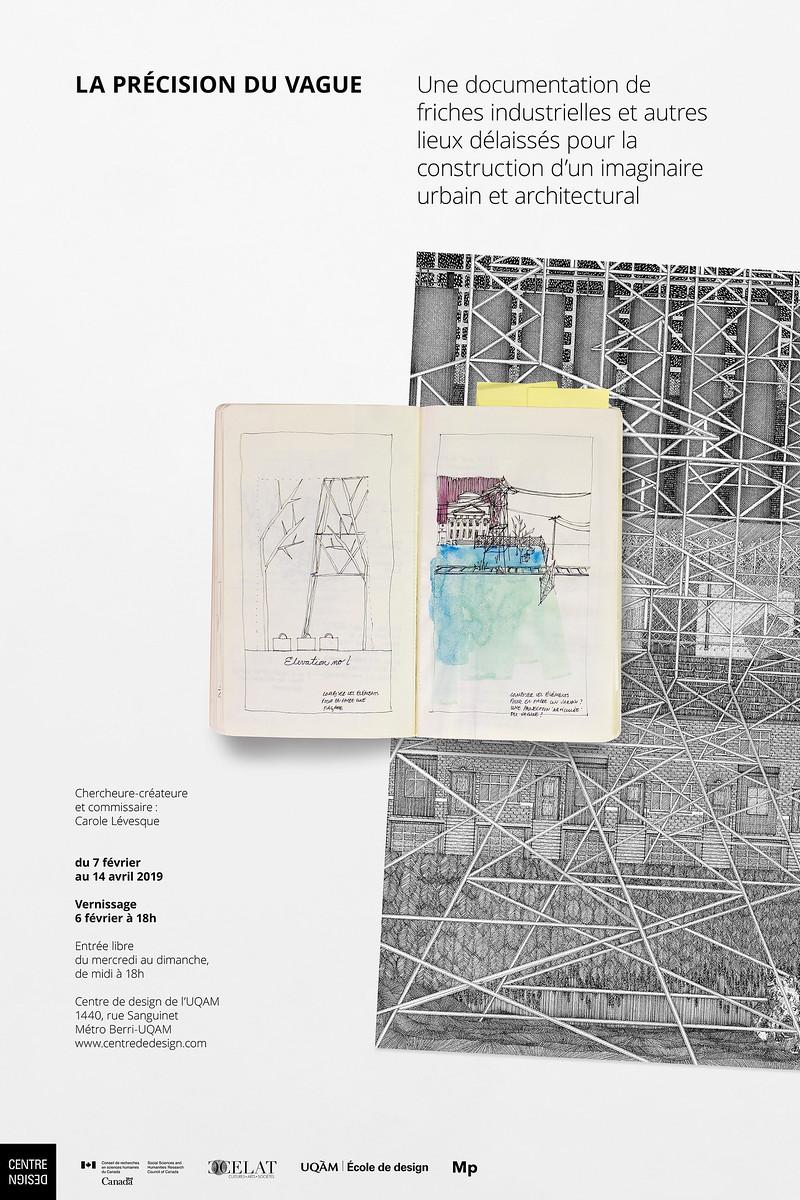 LA PRÉCISION DU VAGUE_Affiche_CENTRE DE DESIGN DE L'UQAM_2019_© Jolin Masson