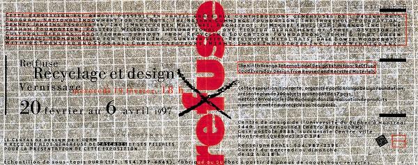Re(f)use - Exposition - Centre de design - Saison 1996-1997