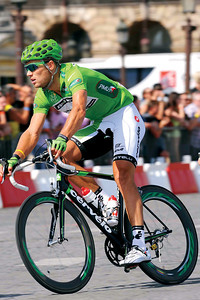 Cycling : Tour de France 2009 / Stage 21 Illustration Illustratie / HUSHOVD Thor(Nor) Green Jersey / Rit Etape / TDF / Ronde van Frankrijk / (c)Tim De Waele