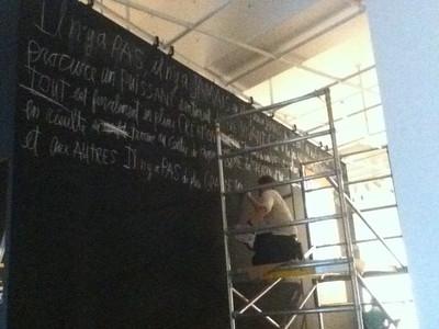 IMG_0227 Lino en chantier ©MAD Centre de design de l'UQAM Saison 2011-2012
