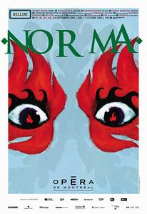 03.orangetango et LINO (illustration) Opéra de Montréal. Norma  Affiche 61 x 91 Offset, 2005