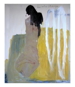 13.LINO Des ailes étranges 185 x 140 Huile et collage sur toile, 2003 (propriété de Brigitte Haentjens)