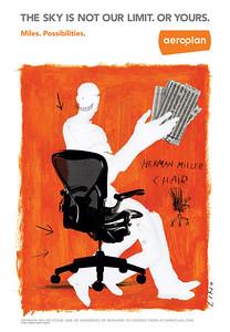 04.Sid Lee et LINO (illustration) Aéroplan Publicité 34 x 91 Offset, 2006