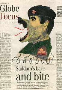 06.	LINO The Globe and Mail Illustration éditoriale, 16 novembre 2002, F1