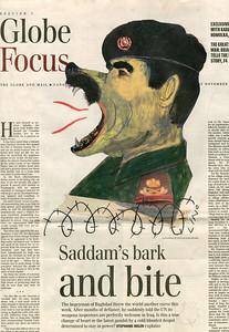 06.LINO The Globe and Mail Illustration éditoriale, 16 novembre 2002, F1