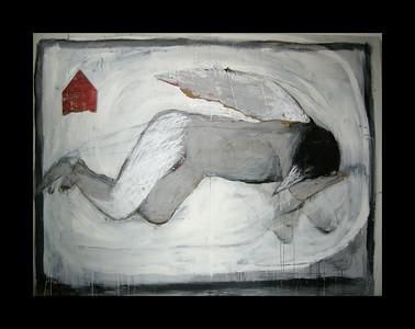 15.LINO Le rêve d'Icare 183 x 244 Huile sur bois, 2009 (propriété de l'artiste)