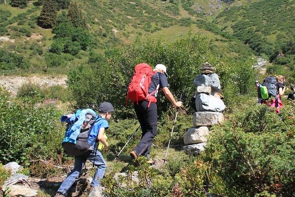 Renngruppe in der Silvrettahütte