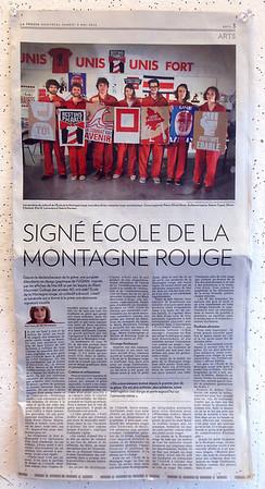 École de la Montagne rouge- Article dans La Presse