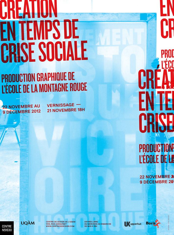 Invitation pour l'exposition Création en temps de crise sociale réalisée par l'Atelier NAC