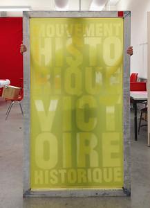 École de la Montagne rouge- Soie de sérigraphie utilisée pour produire l'affiche - Mouvement historique Victoire historique