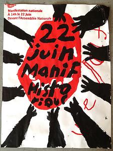 École de la Montagne rouge- Affiche 22 juin manif historique