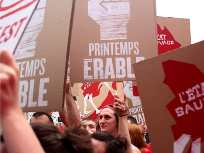 École de la Montagne rouge- Pancarte Printemps Érable