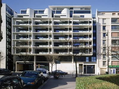 Logements rue de l'Amiral Mouchez, Paris XIV, 2000, photo JM Monthiers ©Agence Michel Kagan Architecture & Associés