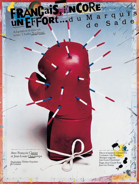 """Affiche """"Français encore un effort"""" 1989"""