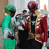 Gokai Green and Gokai Red