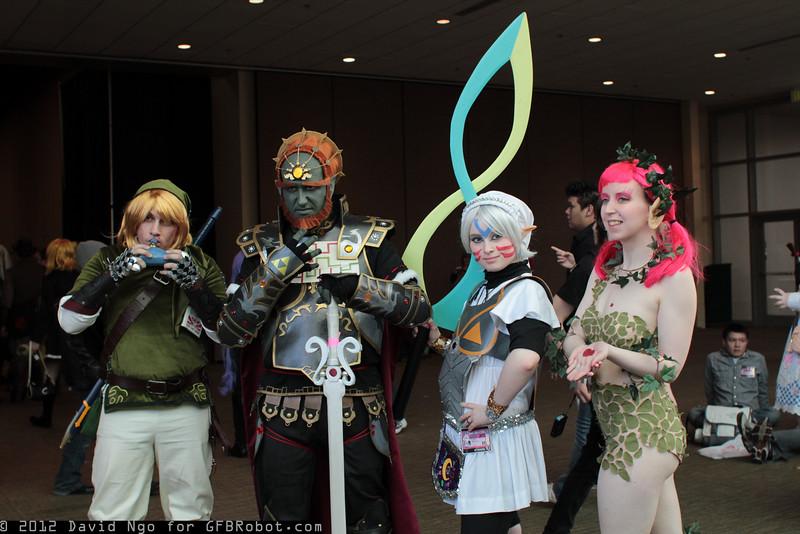 Link, Ganondorf, Fierce Deity Link, and Great Fairy