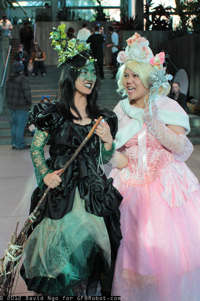Wicked Witch of the West and Glinda the Good Witch of the North