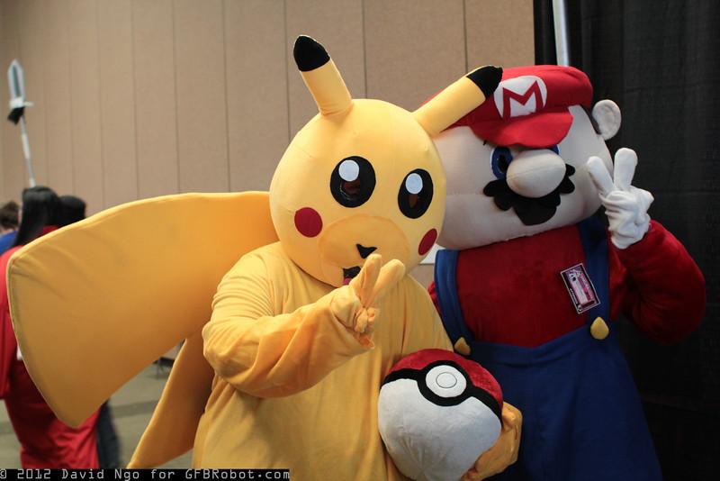 Pikachu and Mario