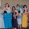 Cinderella, Ariel, Megara, Belle, Snow White, and Princess Aurora