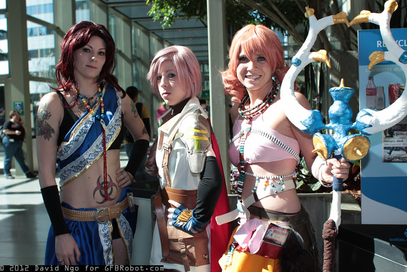Oerba Yun Fang, Lightning, and Oerba Dia Vanille