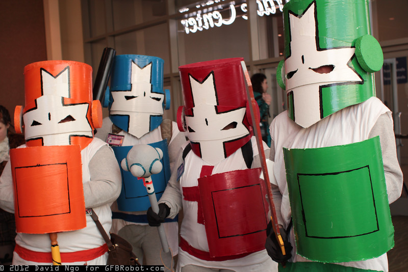 Orange Knight, Blue Knight, Red Knight, and Green Knight