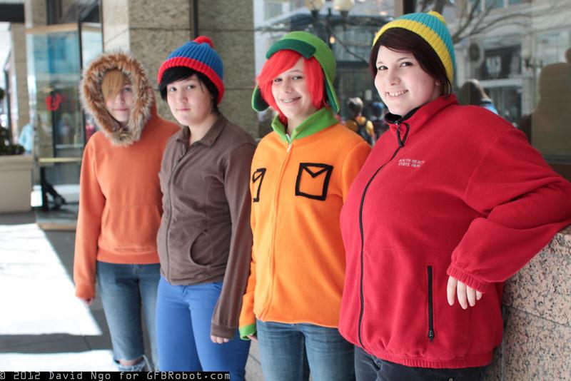 Kenny McCormick, Stan Marsh, Kyle Broflovski, and Eric Cartman
