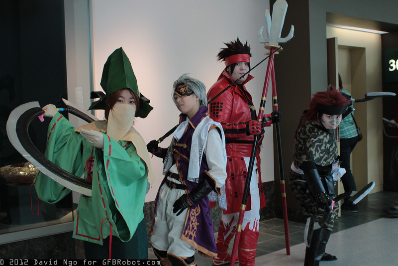 Motonari Mori, Motochika Chosokabe, Yukimura Sanada, and Sasuke Sarutobi