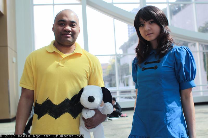 Charlie Brown, Lucy van Pelt, and Snoopy