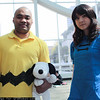 Charlie Brown, Lucy van Pelt, and Snoopy