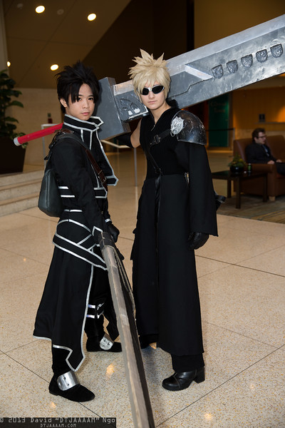 Kirito and Cloud Strife